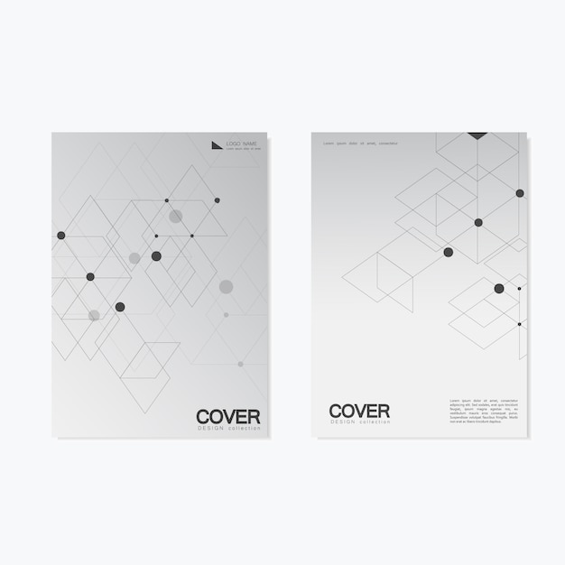 Business brochure  with abstract hexagon pattern.  cover background Premium Vector
