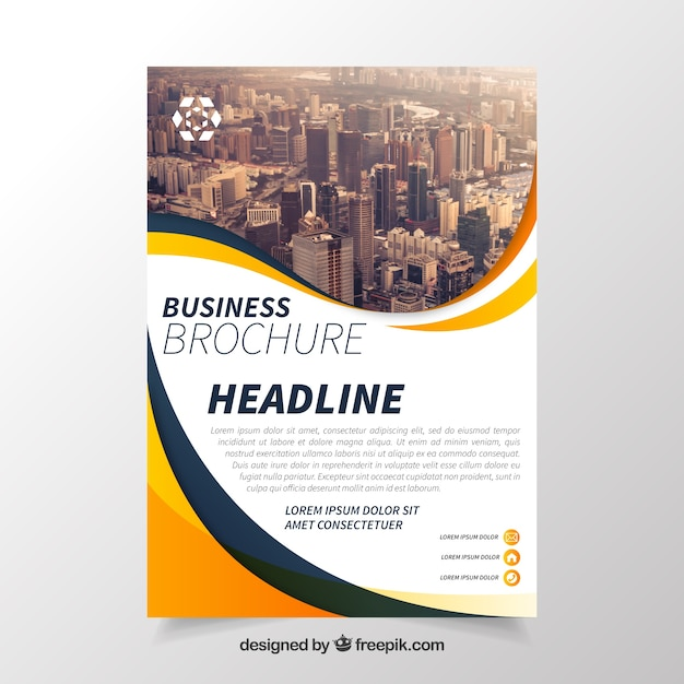 Business brochure with elegant style Free Vector