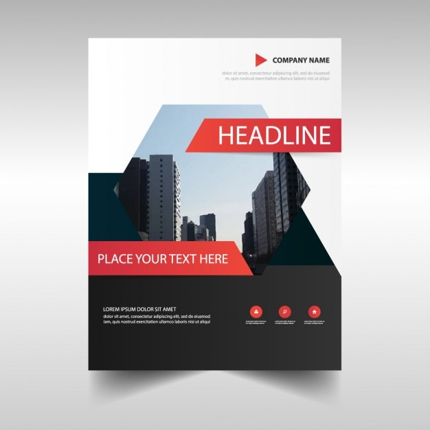 Business brochure with hexagon Free Vector