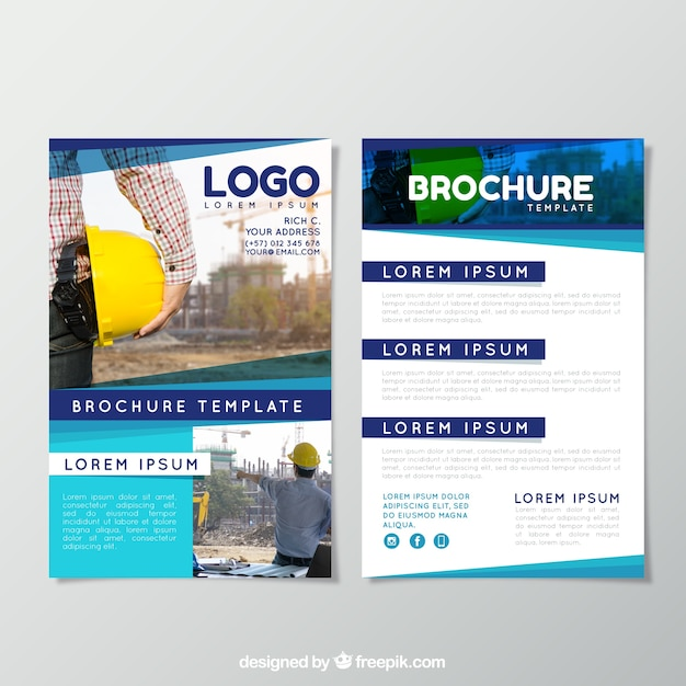 Business brochure with modern style