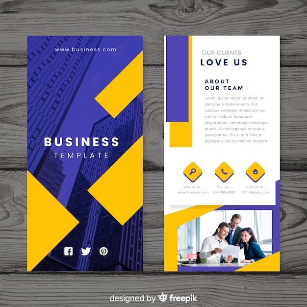 Business brochure Free Vector
