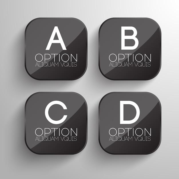 Progettazione di pulsanti aziendali con forma quadrata arrotondata grigia Vettore gratuito