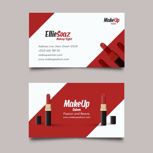 Business card about cosmetics vector free download business card about cosmetics free vector colourmoves