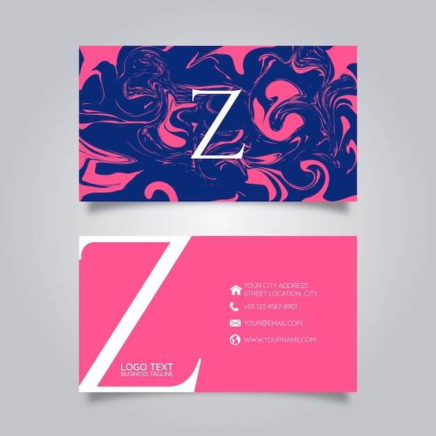Business card abstract paint Premium Vector