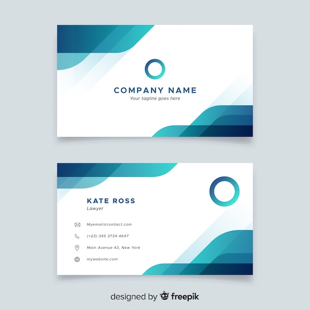 business card in abstract style vector