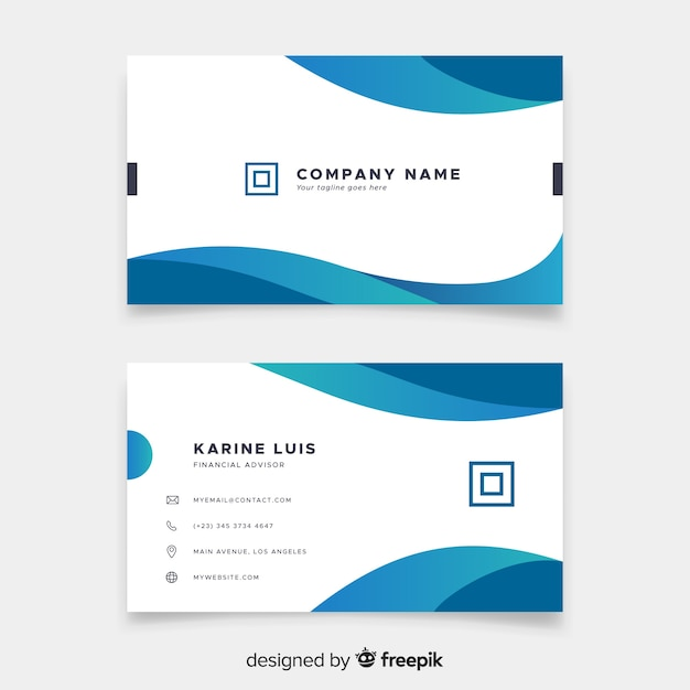 Business card in abstract style Free Vector