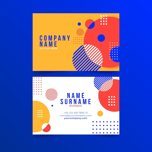 Business card abstract template Free Vector