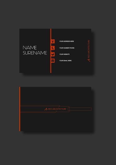 Business card architect vector premium download business card architect premium vector colourmoves