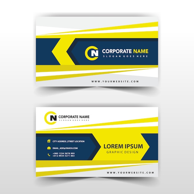 business card back and font design free vector - Back Of Business Card