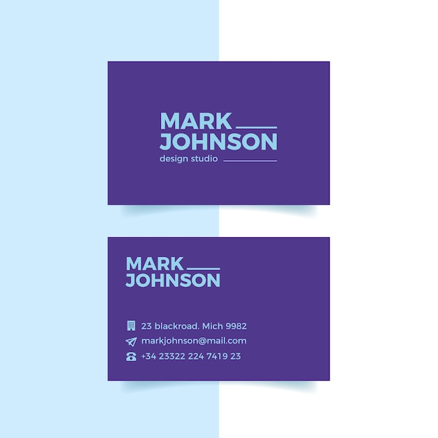Business card colorful minimal template collection Free Vector