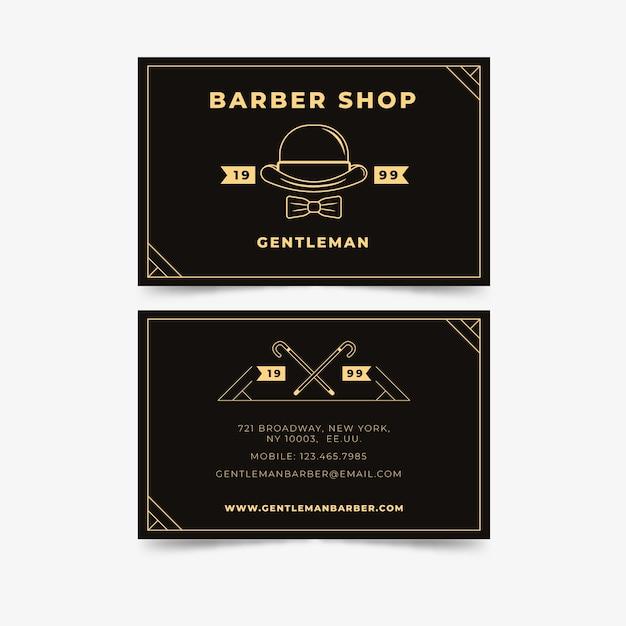 ニューヨークの理髪店の名刺コンセプト 無料ベクター