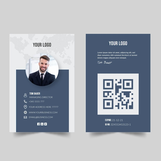 Business card concept Free Vector