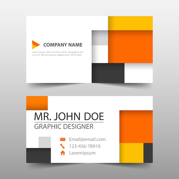 Business Card Cube Template Design Vector | Free Download