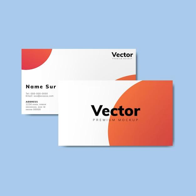 Business card design mockup vector Free Vector