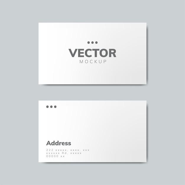 Business card design mockup Free Vector