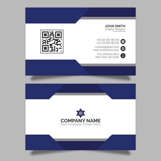 Business card design premium Premium Vector