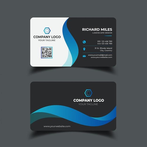 Business card design template Premium Vector