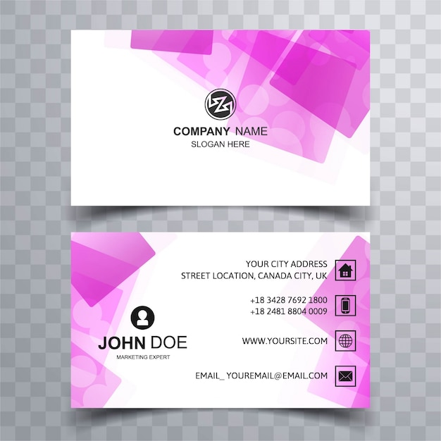 Business card design with abstract purple shapes vector premium business card design with abstract purple shapes premium vector reheart Images