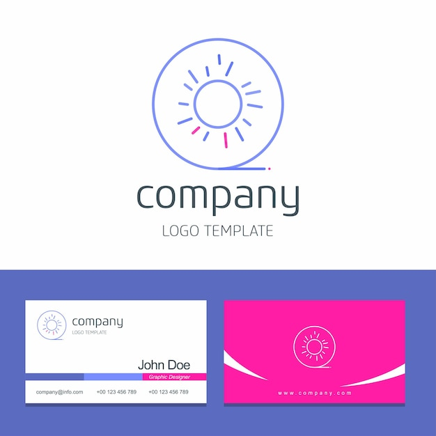 Business card design with fruits company logo vector Free Vector