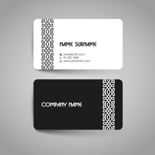Business card design vector free download business card design free vector reheart Images