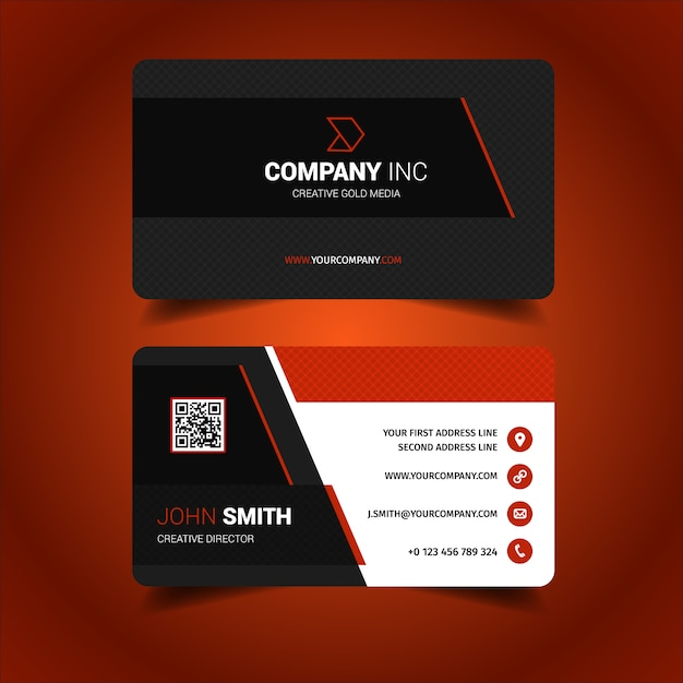 Custom Card Template design a business card : Business card design Vector : Free Download