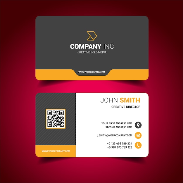 Business card design vector free download business card design free vector reheart Image collections