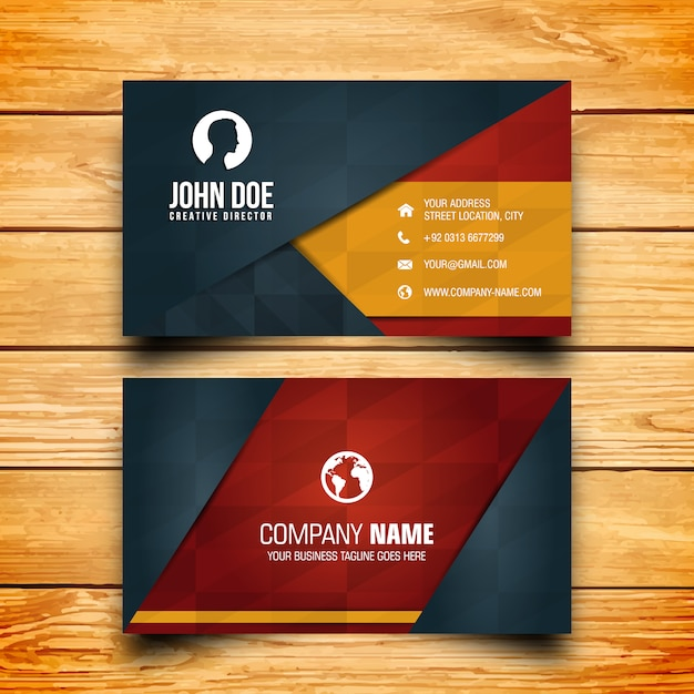 Business card design vector free download business card design free vector reheart Choice Image