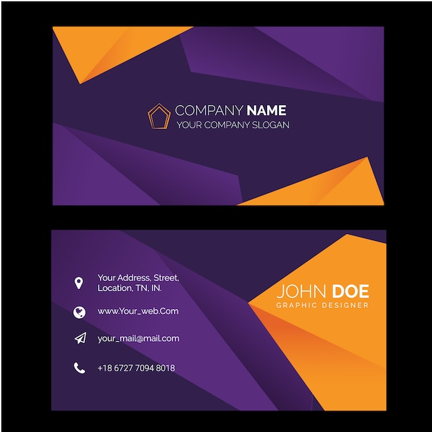 Business card design Free Vector