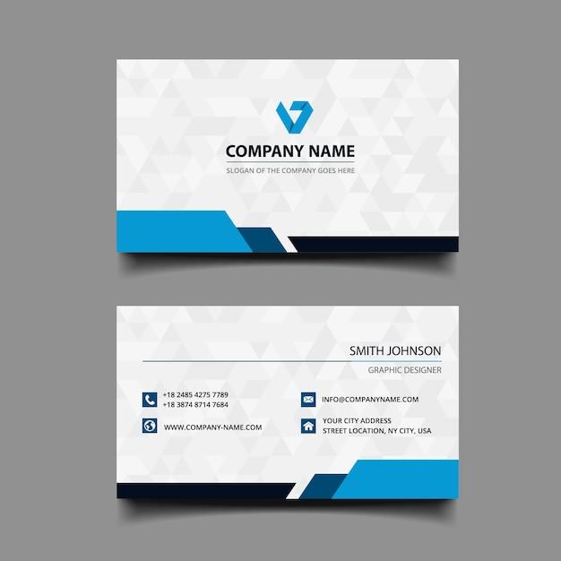 Business card design Premium Vector