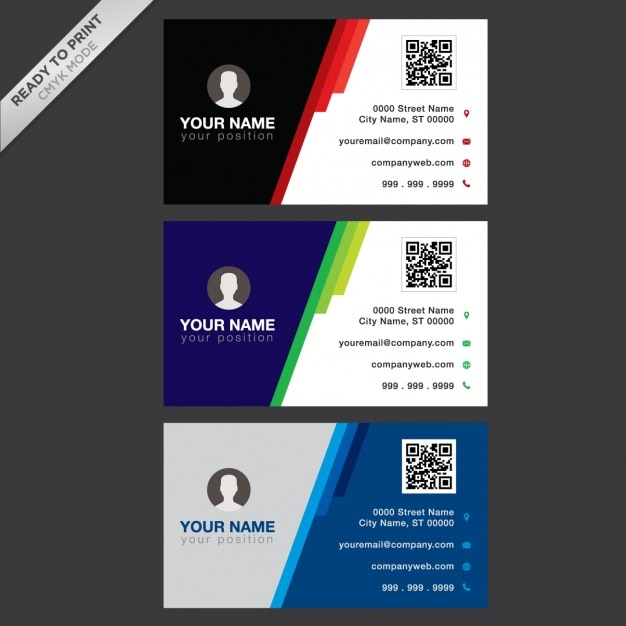 business card designs vector free download
