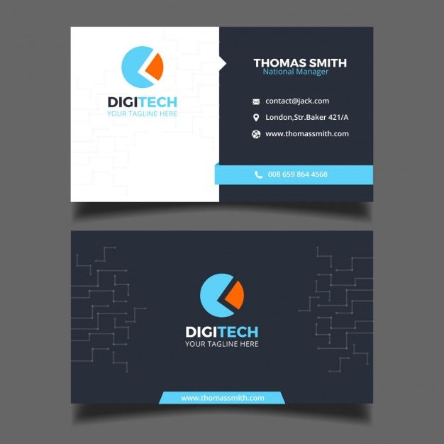 Business card for a technology business Vector | Free Download