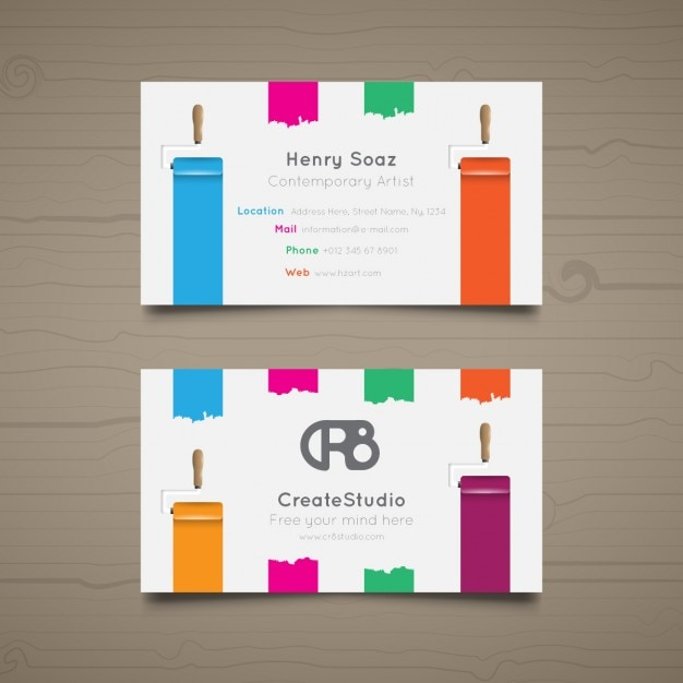 Business card for art studio vector free download business card for art studio free vector colourmoves