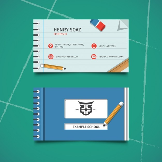 Business card for education Vector | Free Download