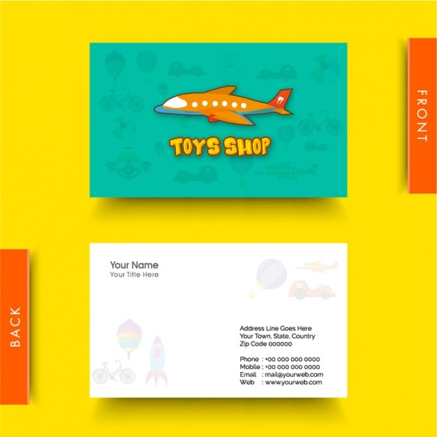 Business card for toy shop vector premium download business card for toy shop premium vector reheart Images
