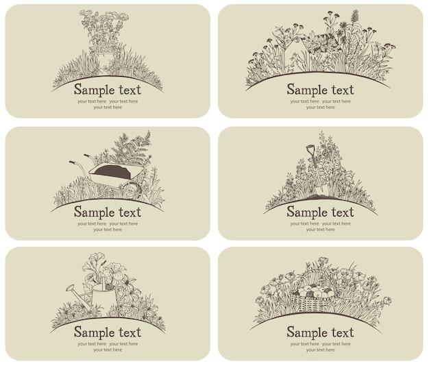 Набор визитных карточек для визитных карточек Бесплатные векторы