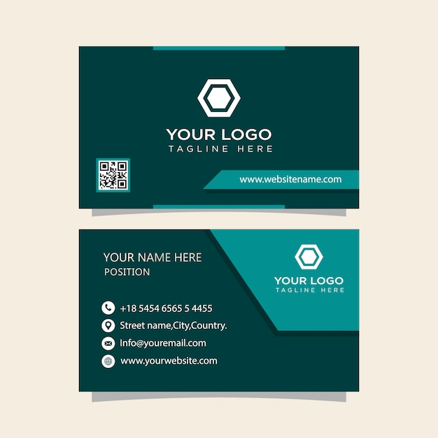 Business card high quality ready to print Premium Vector