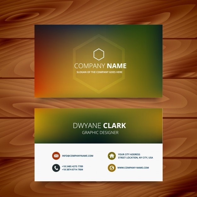 Business card in blurred style Free Vector