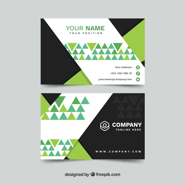 Business card in flat style Free Vector