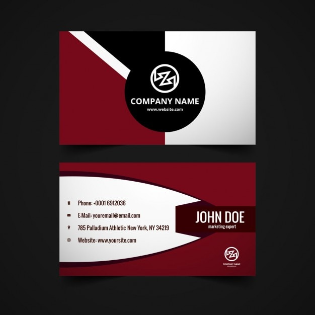 Business Card In Garnet Tones Free Vector