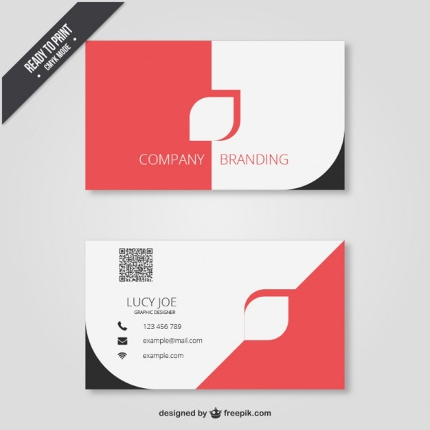 business card in modern design vector free download