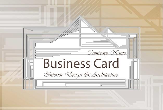 Business Card Interior Design And Architecture Premium Vector