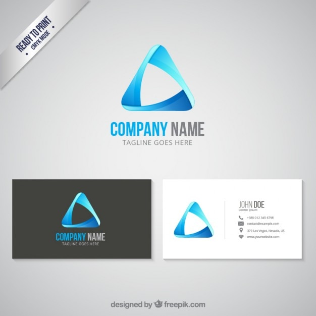 Business card and logo Free Vector
