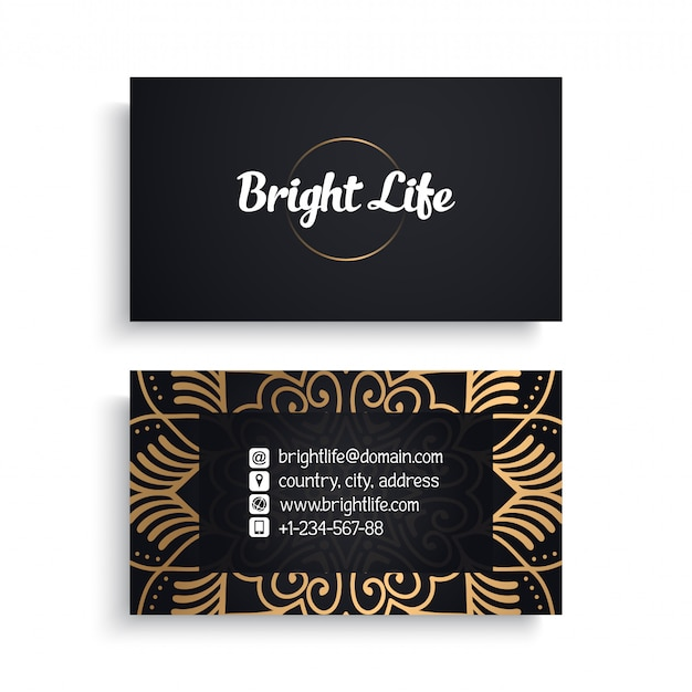 Business card. luxury template Free Vector