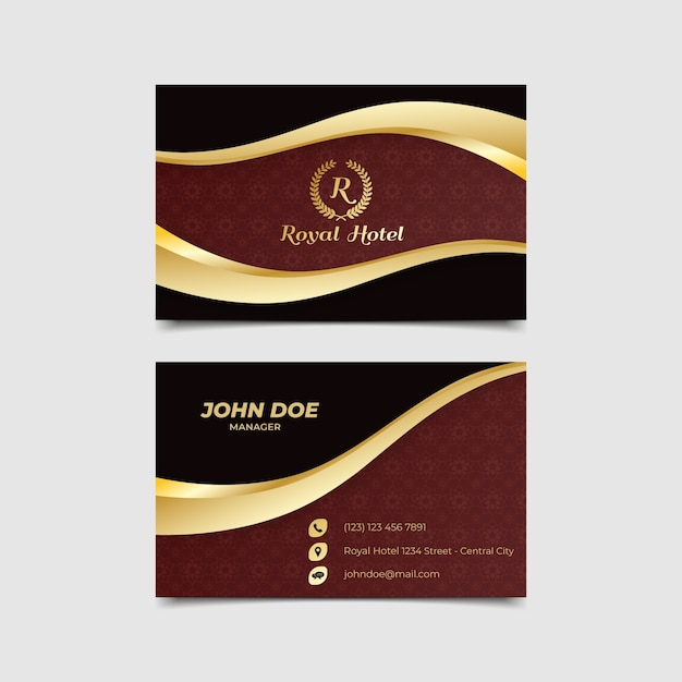Business card luxury template Free Vector