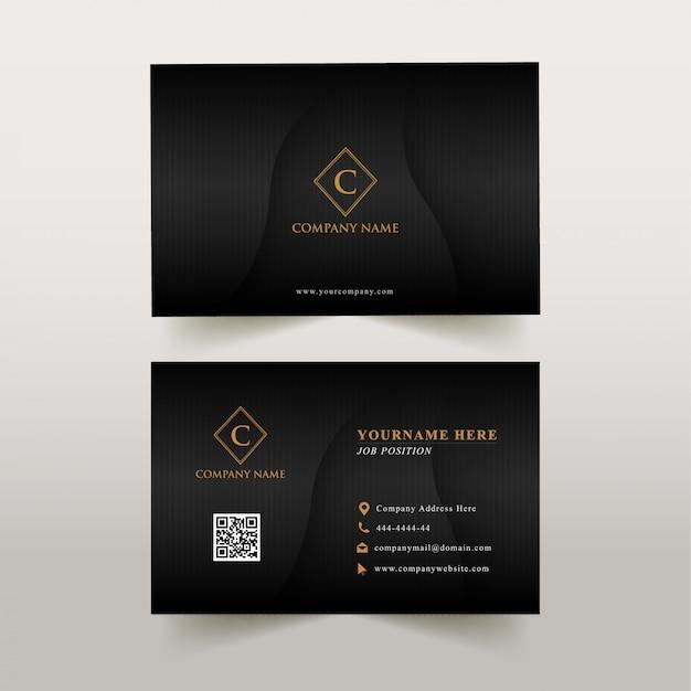 Business card luxury Premium Vector