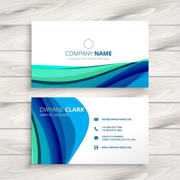 Business card made with abstract waves Vector