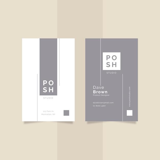 Business card minimal design Free Vector