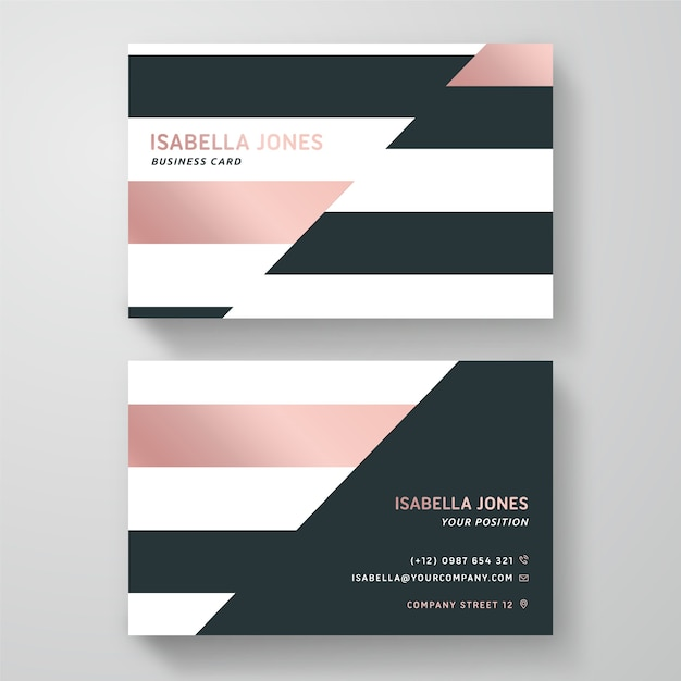 Business card in minimal design Free Vector