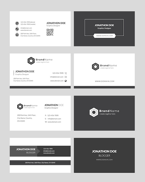 Business card minimal style Premium Vector