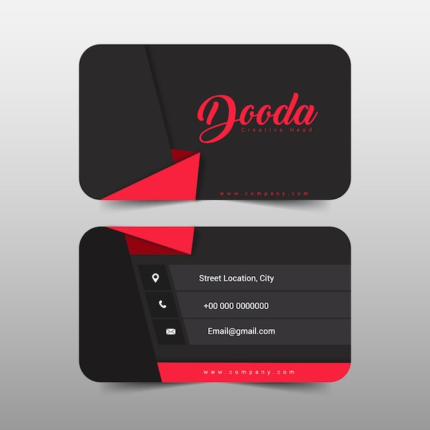 Business card modern design Free Vector